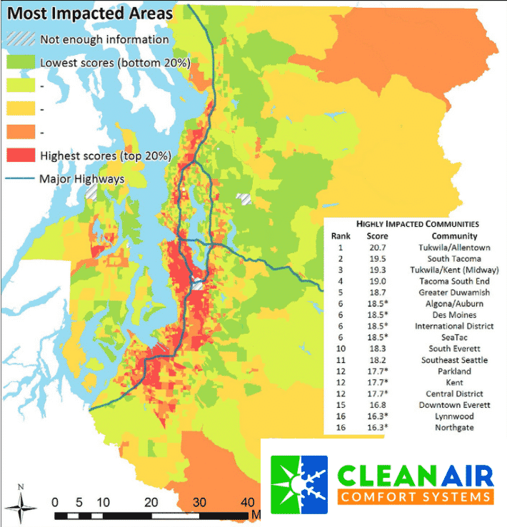 air quality map Washington state